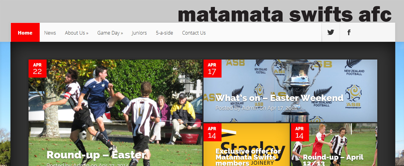 Website – Matamata Swifts AFC